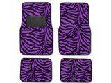 Zebra Purplel Print Carpet Floor mats for Cars / Truck
