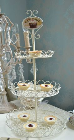 Wedding Party Cake Snack Stand Retro Rack Decor Stylish Holder Plate Floral Lace