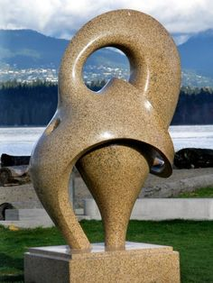 Modern Granite Sculptures in Vancouver, Canada January 2008 This is the Realm of Passion (top) and Curvilinearity (bottom) sculptures. Created by Khang Pham-New Rock Sculpture, Outdoor Sculpture, Outdoor Art, Abstract Sculpture, Stone Sculptures, Canada Pictures, Magic Garden, Layout Design, Art Of Love