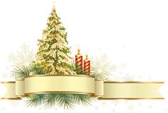 Large Transparent Gold and Green Christmas Tree with Ornaments PNG Clipart