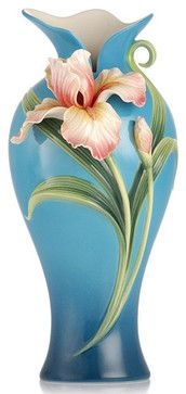 Franz Porcelain Collection Sweet Victory Iris Vase