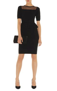 Little Black Dress *with boat-neck. &quotThe cut of the dress is kept ...