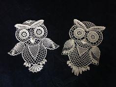 Two crochet owls. my own design Pattern is here:tasamajamarina.deviantart.com/…