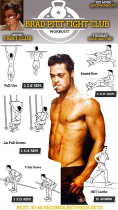 Brad Pitt Fight Club Body: How To Get It | Pop Workouts