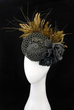 Nexus (Charcoal)   Reny Kestel Millinery. {I might like this better w/o the flowers}