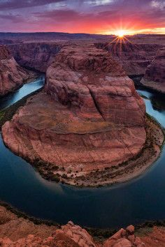 Horseshoe Bend, just outside Page, Arizona.