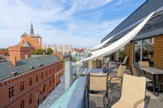 Kołobrzeg, widok z tarasu galerii Hosso. Photo by GB #kolobrzeg #architektura