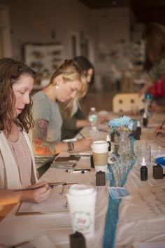 SWELL ANCHOR STUDIO MODERN CALLIGRAPHY WORKSHOP: PATCHOGUE NY. PHOTO CREDIT:  Hamptons Designs