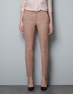 Zara Skinny Jacquard Trousers.  Great pant, ended up getting them in black.