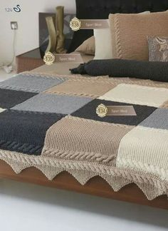 Nako Knitting Festival No: 21 EN - Nako Knitting Festival No: 21 EN di Nako Iplik Pazarlama ve Tic A. Baby Knitting, Crochet Baby, Knit Crochet, Crochet Home Decor, Crochet Blanket Patterns, Patchwork Blanket, Knitted Blankets, Knitted Afghans, Bed Covers