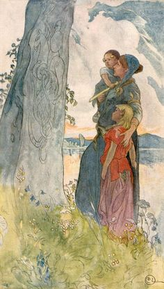 Viking Woman... by Carl Larsson: one of my grandmother's favorite artists