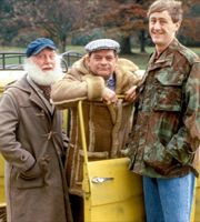 Only Fools And Horses. Image shows from L to R: Uncle Albert (Buster Merryfield), Del (David Jason), Rodney (Nicholas Lyndhurst).