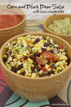 Corn and Black Bean Salsa with lime vinaigrette | A Dish of Daily Life