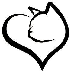 Heart Cat Sticker