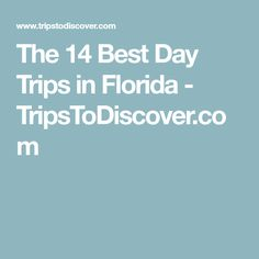 The 14 Best Day Trips in Florida - TripsToDiscover.com
