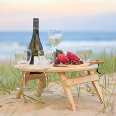 Folding Picnic Table from Summer Picnic Tables - Wohnwagen Portable Picnic Table, Folding Picnic Table, Picnic Tables, Beach Picnic, Summer Picnic, Beach Camping, Summer Beach, Garden Picnic, Mesa Exterior
