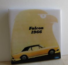 1966 Ford Falcon Tile Coaster by robotcandy on Etsy, $6.00  Look! It's my dream car!