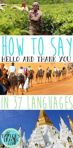 How to Say Hello and Thank You in 37 Languages www.taylorstracks.com