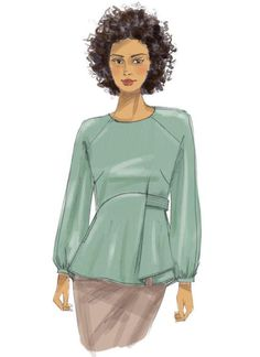 Simple Blouse Pattern, Sewing Blouses, Make Your Own Clothes, Blouses For Women, Sewing Patterns, Short Sleeves, Lorraine, Dressmaking, Tunics