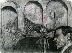 Interiör, Kol, 56x76cm