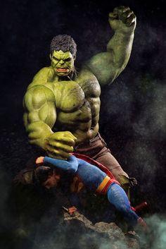 #Hulk #Fan #Toy #Art. (Hulk Vs Superman) By: Chénmò Shì Gān. (THE * 5 * STÅR * ÅWARD * OF: * AW YEAH, IT'S MAJOR ÅWESOMENESS!!!™)[THANK Ü 4 PINNING!!!<·><]<©>ÅÅÅ+(OB4E)