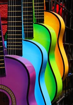 ♥ Music | #colour #rainbow | www.notjustpowder.com
