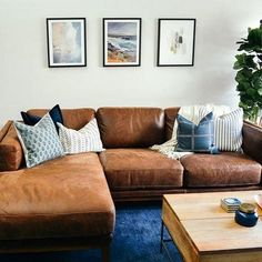 Tips That Help You Get The Best Leather Sofa Deal. Leather sofas and leather couch sets are available in a diversity of colors and styles. A leather couch is the ideal way to improve a space's design and th Living Room Sectional, New Living Room, Living Room Decor, Do It Yourself Sofa, Best Leather Sofa, Black Throw Pillows, Leather Sectional Sofas, Living Room Designs, Furniture