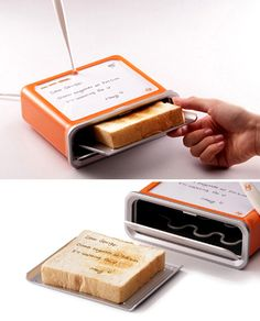 You can write notes and then they will be toasted onto the bread....amazing