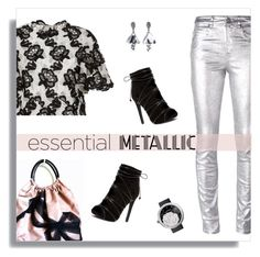 """Essential Metallic"" by mk-style ❤ liked on Polyvore featuring Monique Lhuillier, Étoile Isabel Marant, Valentino, Chanel and Oscar de la Renta"