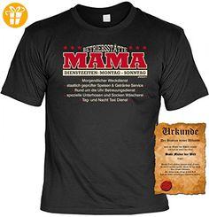 T-Shirt inkl. Urkunde für die Mutter mit Humor - Betriebsstätte Mama - Geschenk Idee zum Geburtstag Muttertag, Größe:XXL - Shirts mit spruch (*Partner-Link)