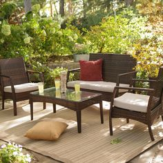 Have to have it. Coral Coast Parkville All-Weather Wicker Conversation Set - Seats 4 $499.99