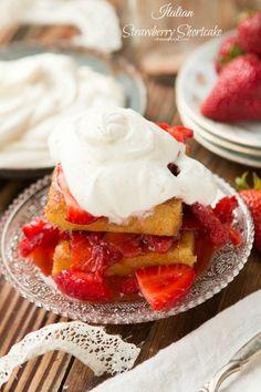 Killer Italian strawberry shortcake with mascarpone whipped cream  - uses polenta.  Mom ohsweetbasil.com