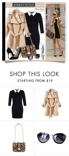 """Street Style/work wear chic..."" by unamiradaatuarmario ❤ liked on Polyvore featuring Valentino, Kurt Geiger, StreetStyle, WorkWear, animalprint, Trench and StreetChic"