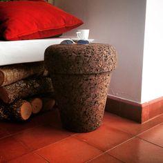 "#POT - ""Plant on Top"", a 100% #natural #stool. Find it out: www.varasverdes.com #varasverdes #portuguesedesign #naturaldesign #sustainabledesign #portuguesedesign #plantontop #cork #eco #ecodesign"