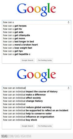 On Google search, grammar does matter!! (I just googled this and it does come up with this..ohlody)