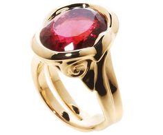 Ring SCHILF TRUE LOVE  - gold, pink tourmalin (not treated)