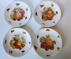 Vintage Seltmann Weiden K Dessert Salad Plates Set Of 4 Fruit Nuts W. Germany #SeltmannWeidenK