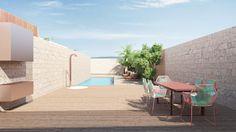 Apartment by destilat 05 - MyHouseIdea Outdoor Furniture Sets, Outdoor Decor, Interior Inspiration, House Design, Interior Design, Pools, Home Decor, Courtyards, Majorca