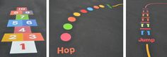Extra large Hopscotch and Activity trail installed at Woodlawn Special school Newcastle.