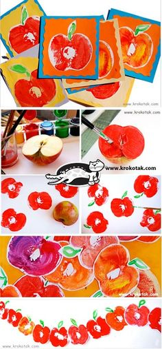Apfel-Karten The Effective Pictures We Offer You About kids halloween witch A quality picture can te Autumn Crafts, Fall Crafts For Kids, Toddler Crafts, Art For Kids, Kids Crafts, Autumn Art, Apple Activities, Autumn Activities, Activities For Kids