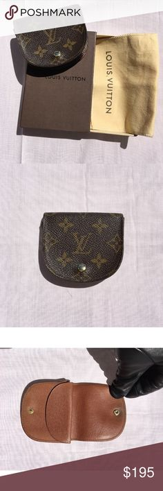 Authentic LV purse Vintage Authentic LV Coin Purse. No Trades and No Bundles comes with Dust Bag and Box. Overall good condition. Made in France. Code 883CT. Width 3.54 inches Height 3.14 inches Depth 0.78 inches Louis Vuitton Bags Wallets