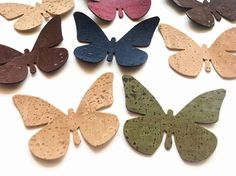 Cork Fabric Butterfly Die Cut Butterfly Applique for Craft
