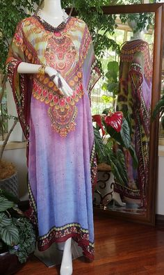 Crystal embellished georgette kaftan    Fab crystal embellished Kaftans 50% off    Long Kaftans with fab crystal embellishment on sale now. One size fits most. Can be let out easily as there is a generous side allowance. 148cm in length    DON'T MISS OUT ... LIMITED AVAILABILITY    #blackfriday #cybermonday #bling #kaftans #beach #cruising #summer #christmas #instagift #holiday#gift    ACCESSORIES NOT INCLUDED. Can be purchased by emailing sales@glamystique.com for details     | Shop…