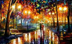 Original Recreation Oil Painting on Canvas Title: Rains Rustle Size: 40 x 24 (100 cm x 60 cm) Condition: Excellent Brand new Gallery Estimated Value: $15,500 Type: Original Recreation Oil Painting on Canvas by Palette Knife This is a recreation of a piece which was already sold.