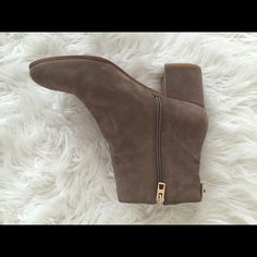 Coach Block-Heel Booties worn once! Coach Shoes Ankle Boots & Booties