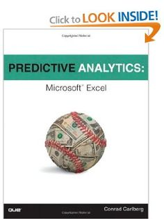 Predictive Analytics: Microsoft Excel by Conrad Carlberg (Author). The movie Moneyball made predictive analytics well-known: Now you may apply the identical techniques to assist your corporation win. You don't want multimillion-greenback software program: All the instruments you need are available in Microsoft Excel, and all of the knowledge and expertise are right right here, in this guide!
