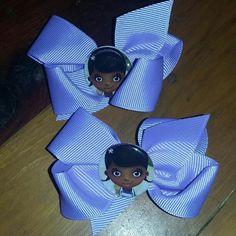 Hairbow pair Doc McStuffin handmade never been worn