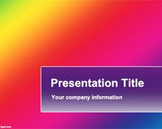 Free Powerpoint Template with Gradient Effect Color Powerpoint Background For Colorful PPT Presentation Powerpoint Background Templates, Powerpoint Template Free, Microsoft Powerpoint, Business Powerpoint Templates, Powerpoint Presentation Templates, Brand Presentation, Business Presentation, Slide Design, Anger Management