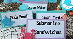 Under the Sea Birthday Party Food Buffet Name by WeBringTheParty, $6.00