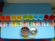 Elaine Ng Friis: Montessori Activity: Teaching Counting & Numeral Recognition with Cups & Counters